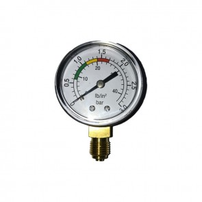 Manómetro 0-6 Kg/Cm2 Banho Glicerina Inox